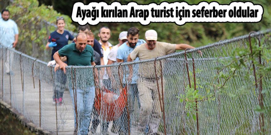 Ayağı kırılan Arap turist için seferber oldular