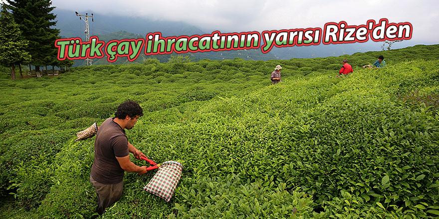 Türk çay ihracatının yarısı Rize'den