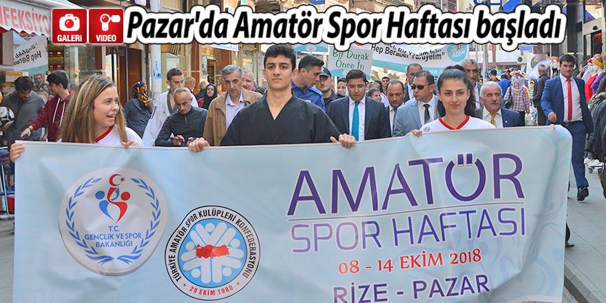 Pazar'da Amatör Spor Haftası başladı