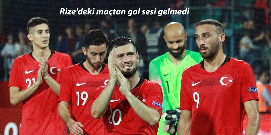 Rize'deki maçtan gol sesi gelmedi