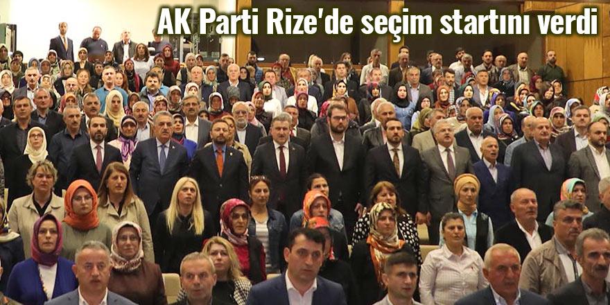 AK Parti Rize'de seçim startını verdi