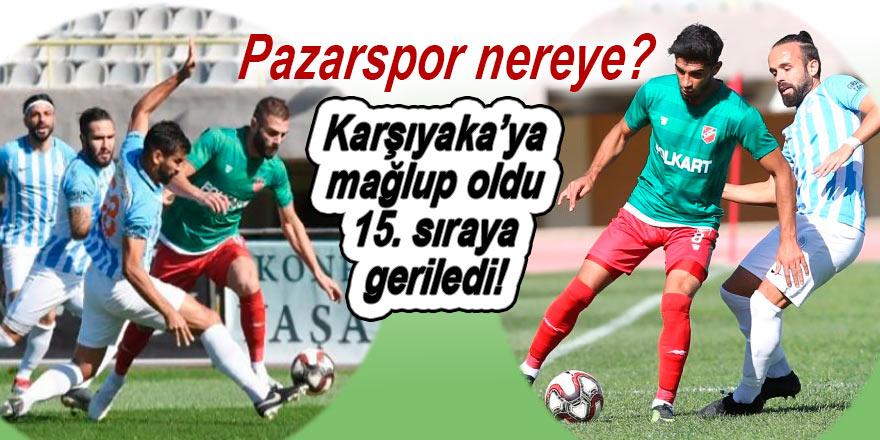 Pazarspor 3 puan daha kaybetti