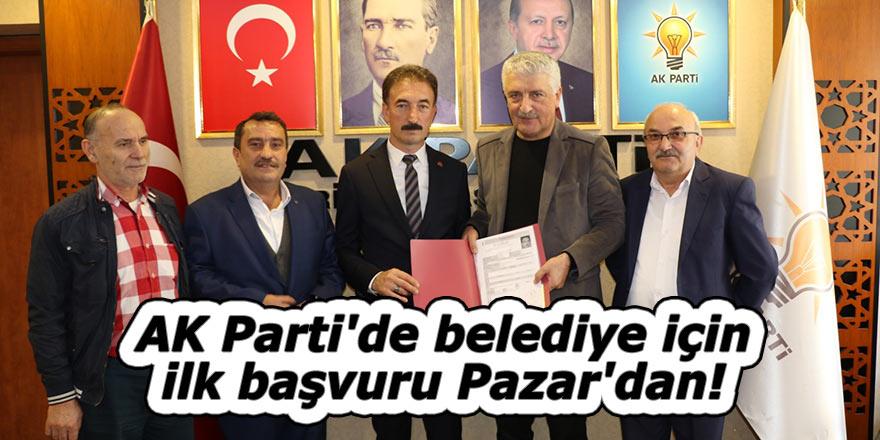AK Parti'de belediye için ilk başvuru Pazar'dan!