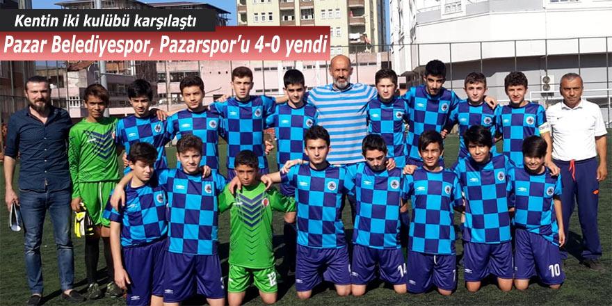 Pazar Belediyespor, Pazarspor'u 4-0 mağlup etti!