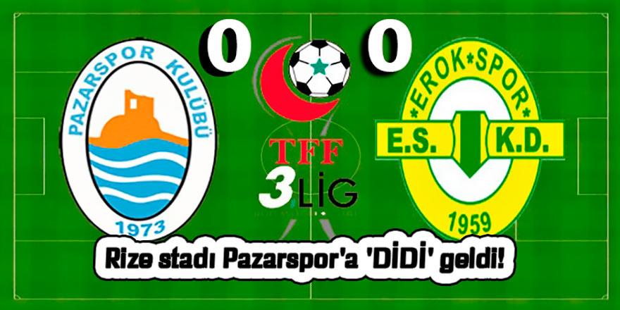 Rize stadı Pazarspor'a 'DİDİ' geldi!