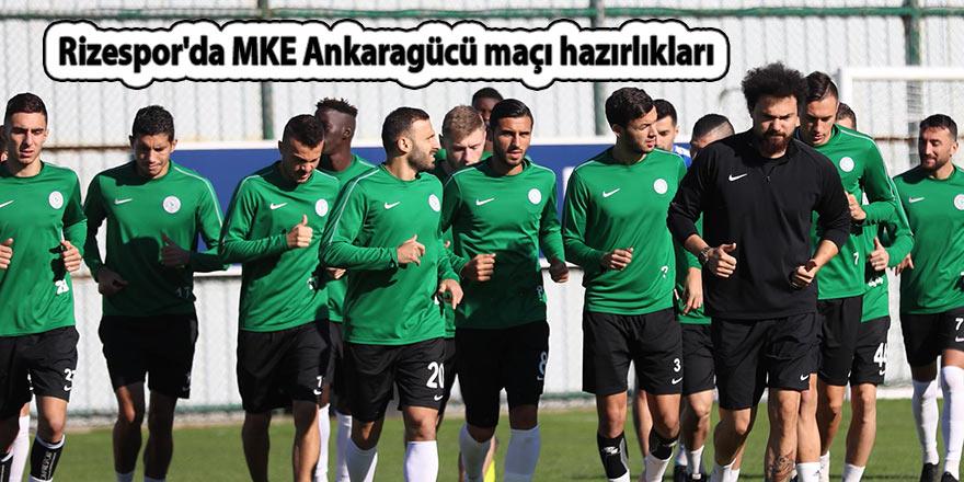 Rizespor'da MKE Ankaragücü maçı hazırlıkları