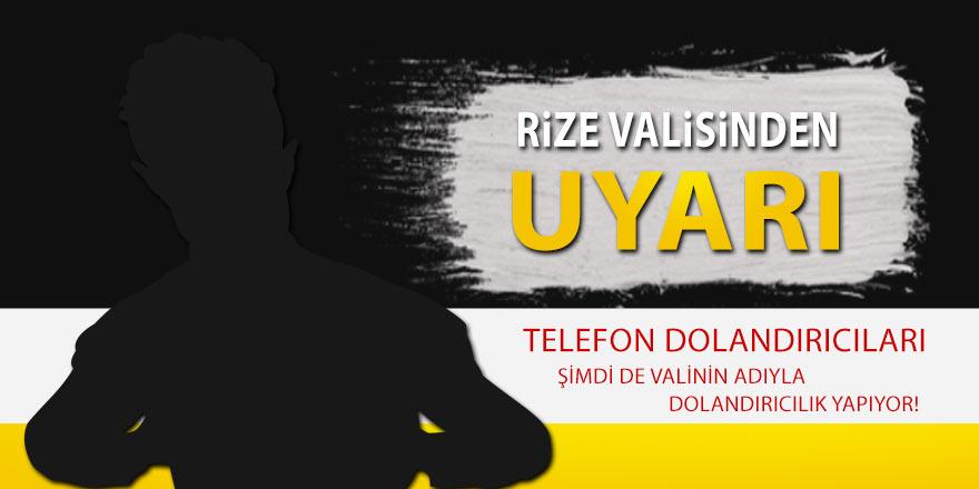 Vali Çeber dolandırıcılara karşı vatandaşları uyardı