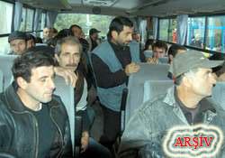 Rize'de 7 Gürcü işçi sınırdışı edildi