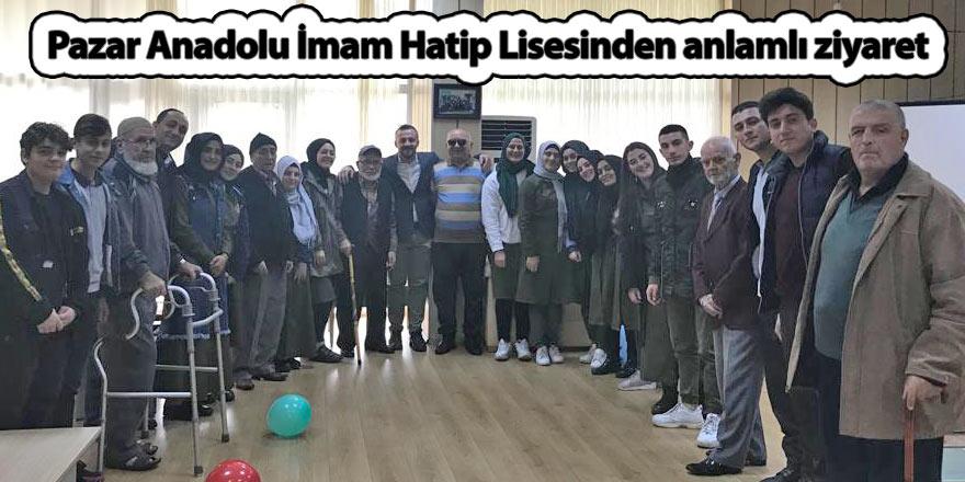 Pazar Anadolu İmam Hatip Lisesinden anlamlı ziyaret