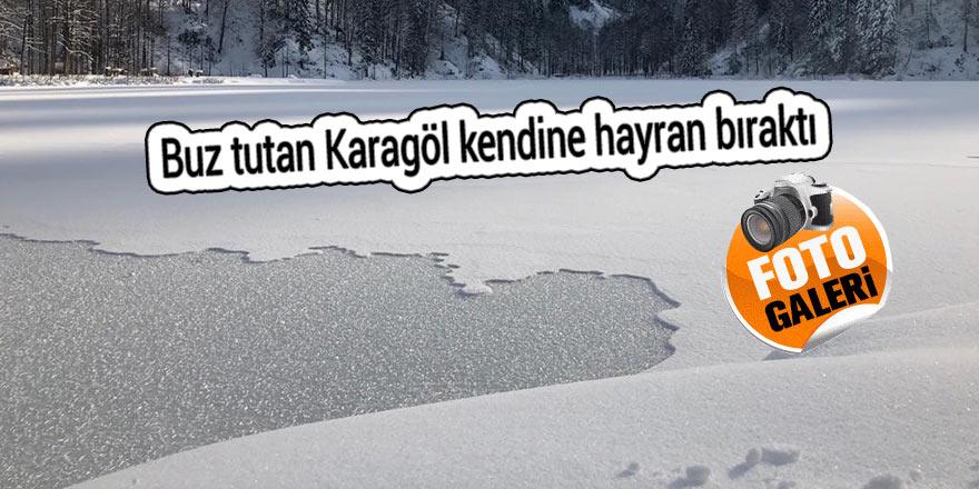 Buz tutan Karagöl kendine hayran bıraktı