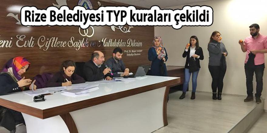 Rize'de kurumların TYP kuraları çekildi