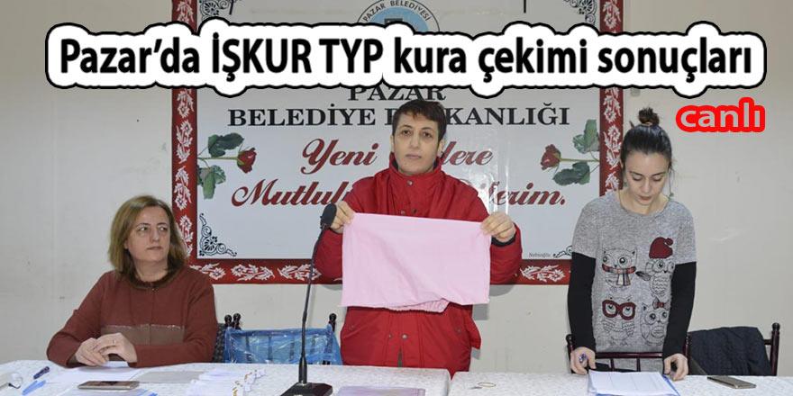 Pazar'da İŞKUR TYP kura çekimi başladı CANLI