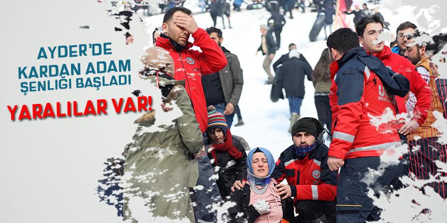 Ayder'de Kardan Adam Şenliği kazalarla başladı