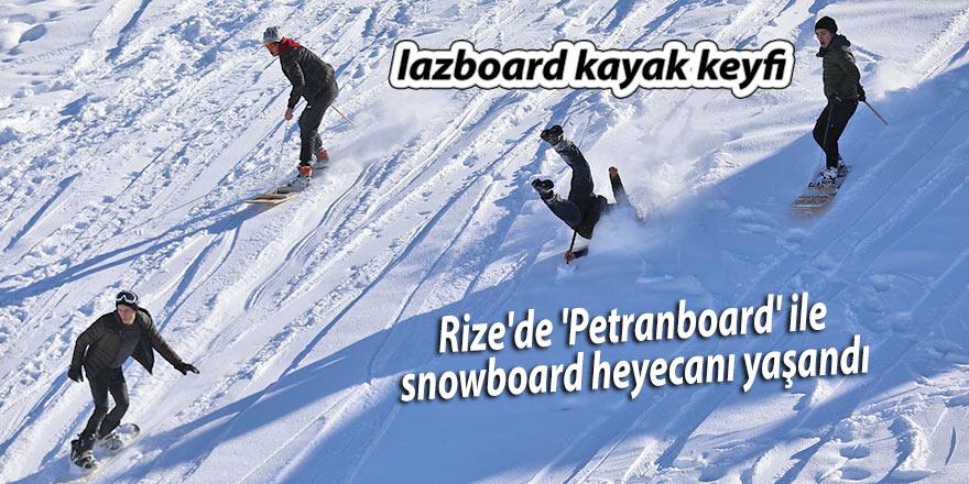 Rize'de 'Petranboard' ile snowboard heyecanı yaşandı