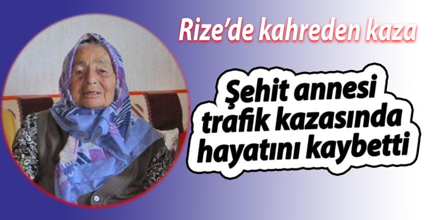 Şehit annesi trafik kazasında hayatını kaybetti