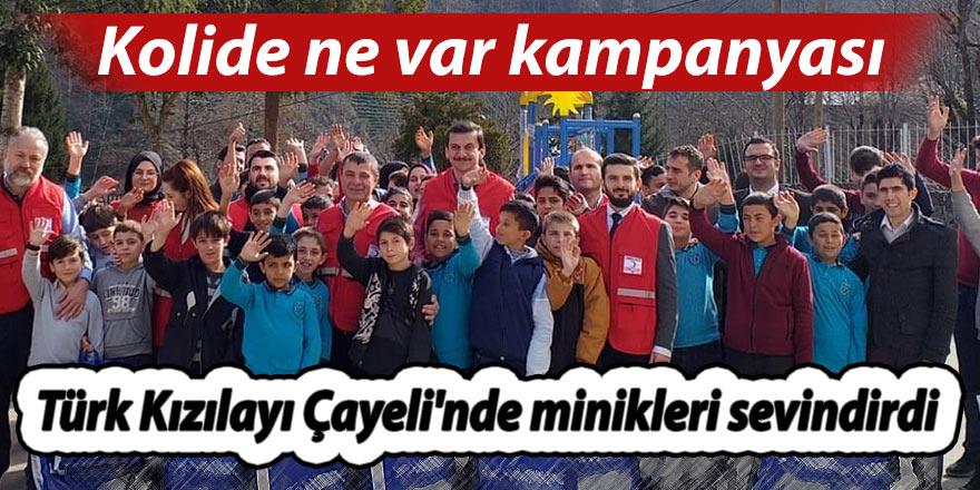 Türk Kızılayı Çayeli'nde minikleri sevindirdi