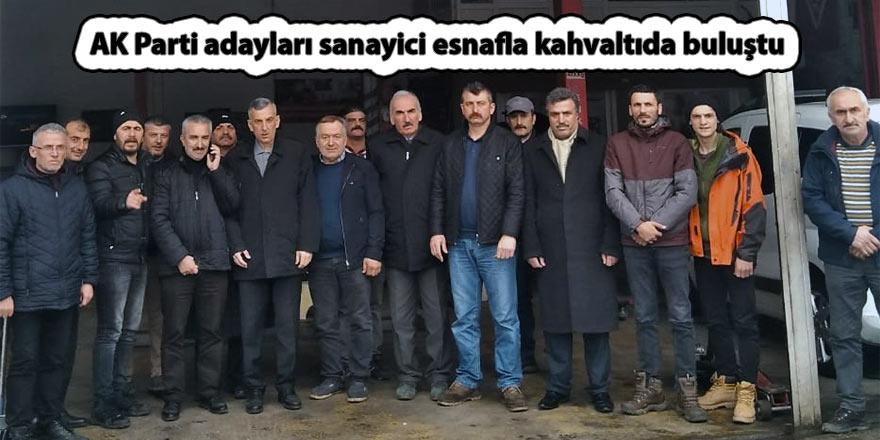 AK Parti adayları sanayici esnafla kahvaltıda buluştu