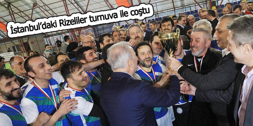 İstanbul'daki Rizeliler turnuva ile coştu