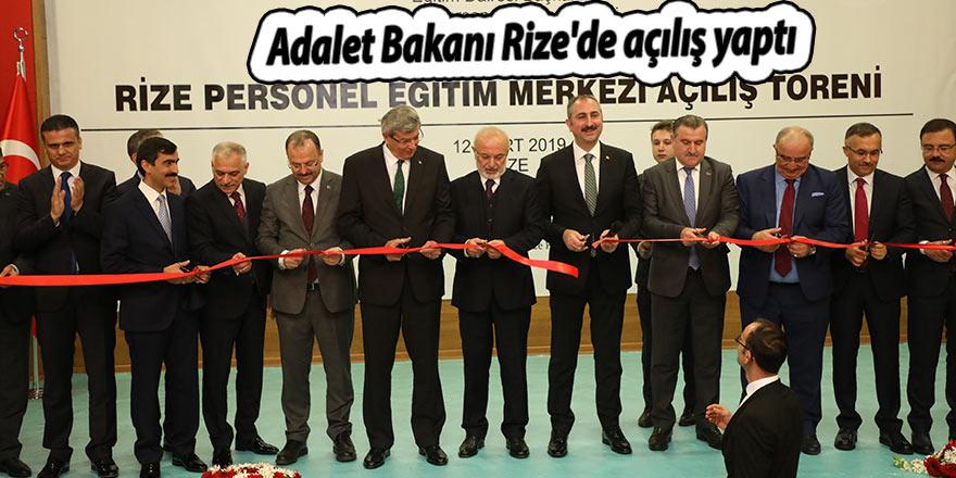 Adalet Bakanı Rize'de açılış yaptı