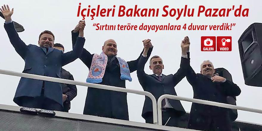 Soylu Pazar'da: Sırtını teröre dayayanlara 4 duvar verdik!