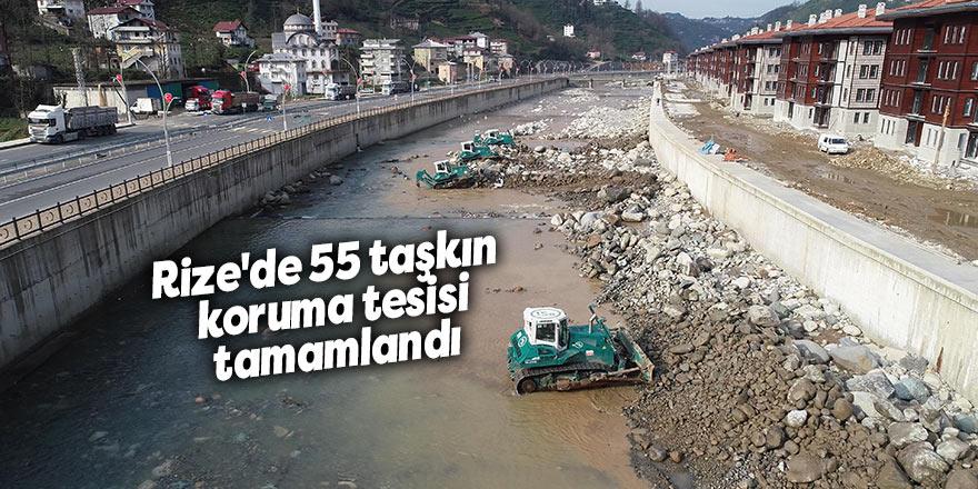 Rize'de 55 taşkın koruma tesisi tamamlandı
