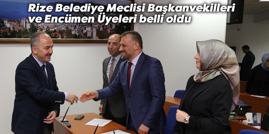 Rize Belediye Meclisi Başkanvekilleri ve Encümen Üyeleri belli oldu