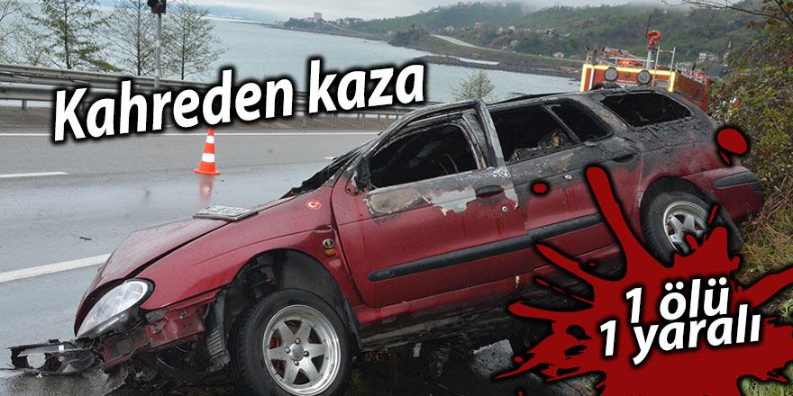 Kahreden kaza: 1 ölü 1 yaralı
