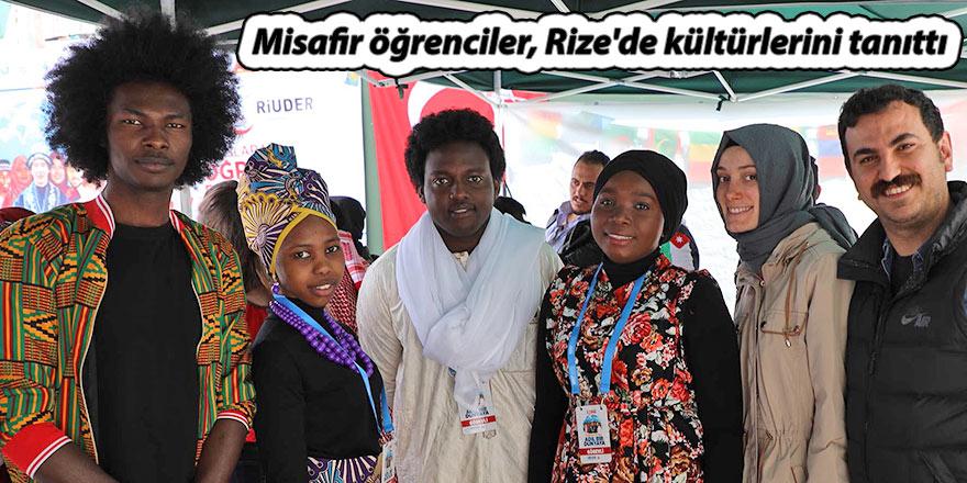 Misafir öğrenciler, Rize'de kültürlerini tanıttı