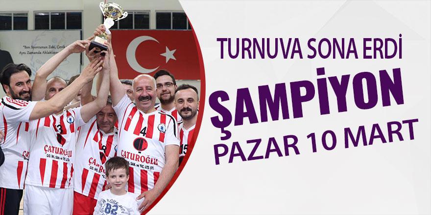Pazar 10 Mart Mesleki ve Teknik Anadolu Lisesi şampiyon