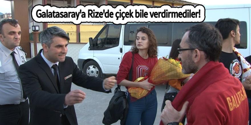 Galatasaray'a Rize'de çiçek bile verdirmediler!