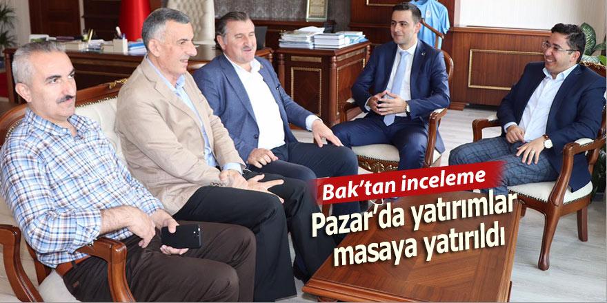 Osman Aşkın Bak Pazar'da yatırımları sorguladı