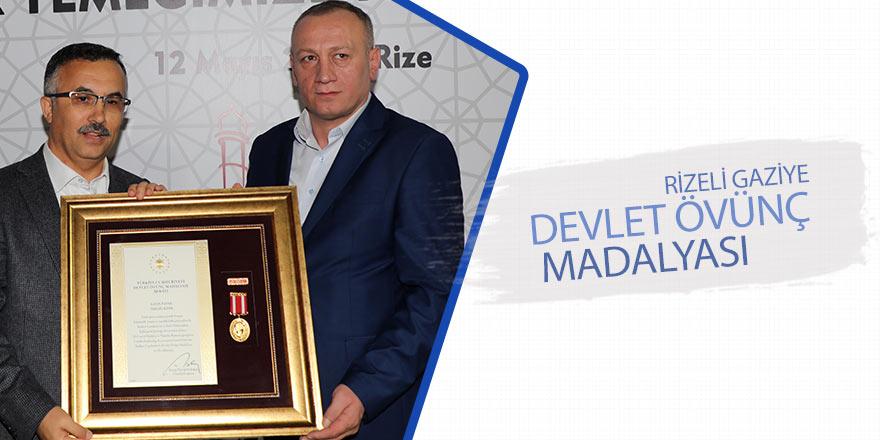 Rizeli gaziye Devlet Övünç Madalyası