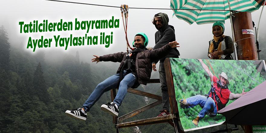 Tatilcilerden bayramda Ayder Yaylası'na ilgi