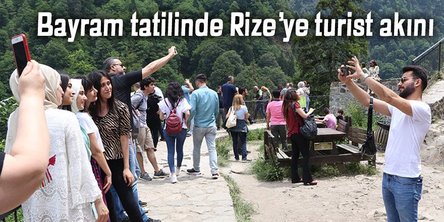 Bayram tatilinde Rize'ye turist akını