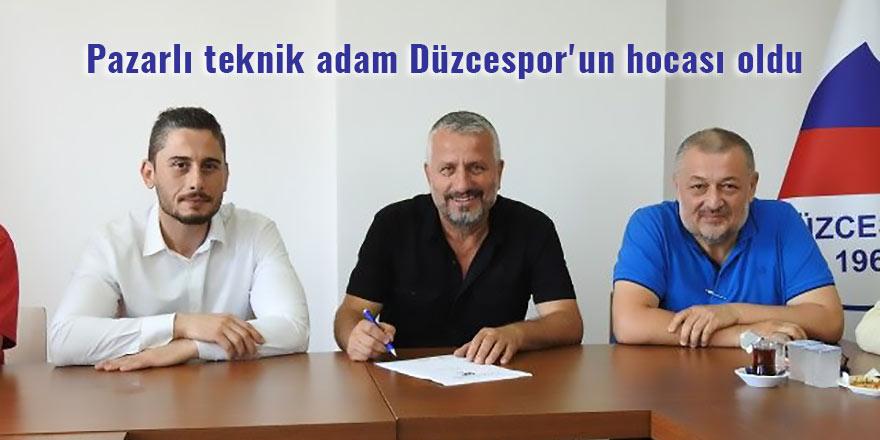 Pazarlı teknik adam Düzcespor'un hocası oldu