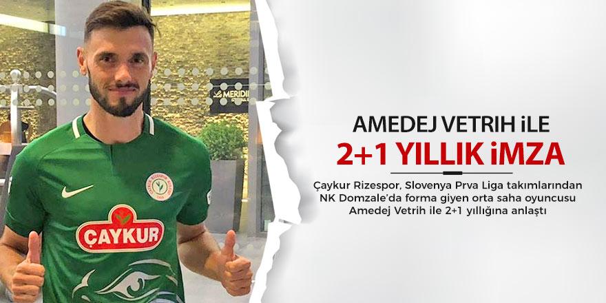 Rizespor, Amedej Vetrih ile 2+1 yıllığına anlaştı