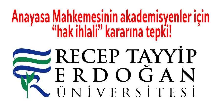 """Anayasa Mahkemesinin akademisyenler için """"hak ihlali"""" kararına tepki"""