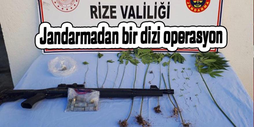 Rize'de jandarmadan bir dizi operasyon