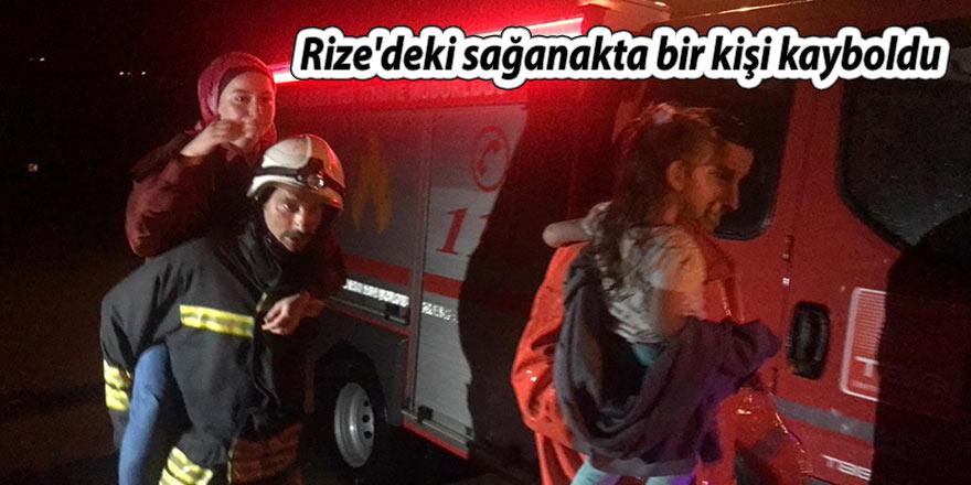 Rize'deki sağanakta bir kişi kayboldu
