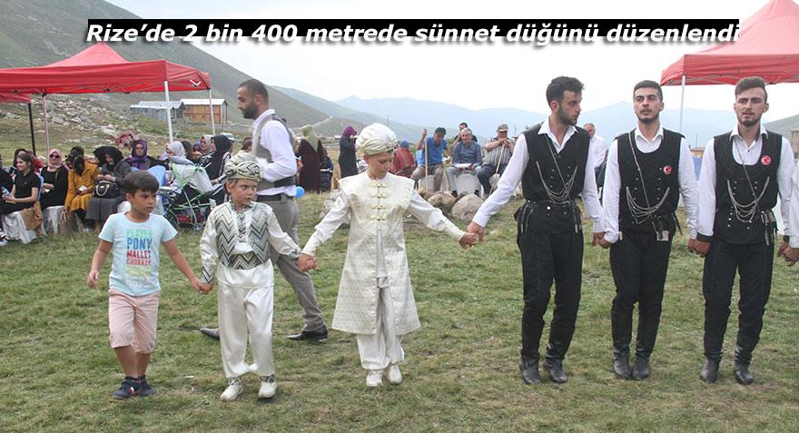 Rize'de 2 bin 400 metrede sünnet düğünü düzenlendi