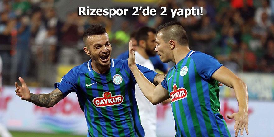 Rizespor 2'de 2 yaptı