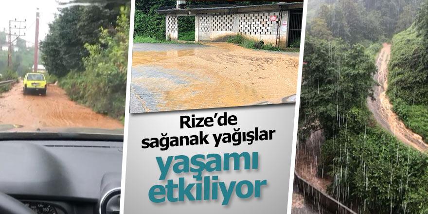 Rize'de yağış hayatı olumsuz etkiledi