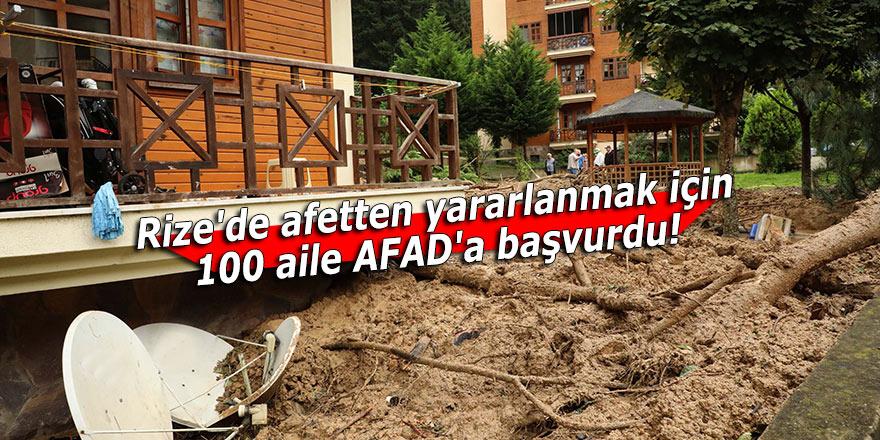 Rize'de afetten yararlanmak için 100 aile AFAD'a başvurdu!