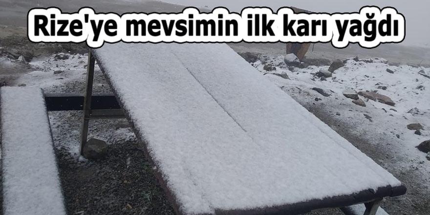 Rize'ye mevsimin ilk karı yağdı