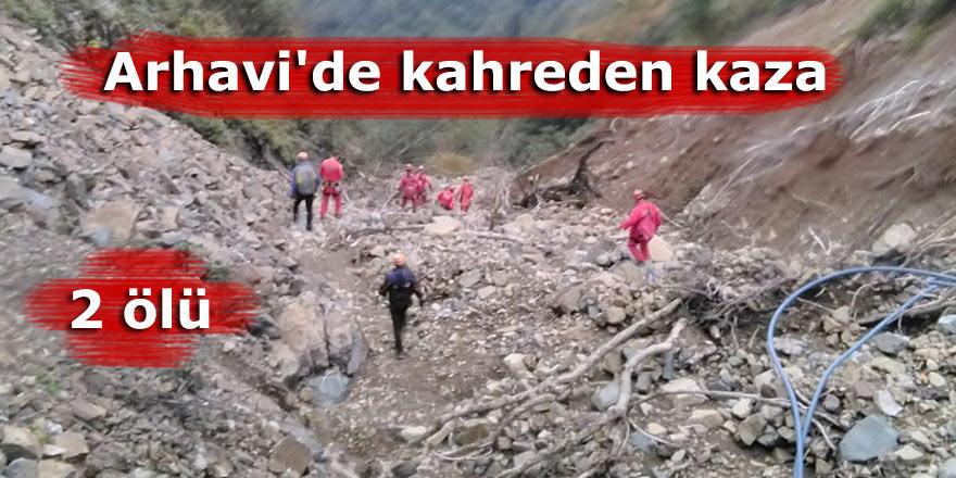 Arhavi'de kahreden kaza: 2 ölü