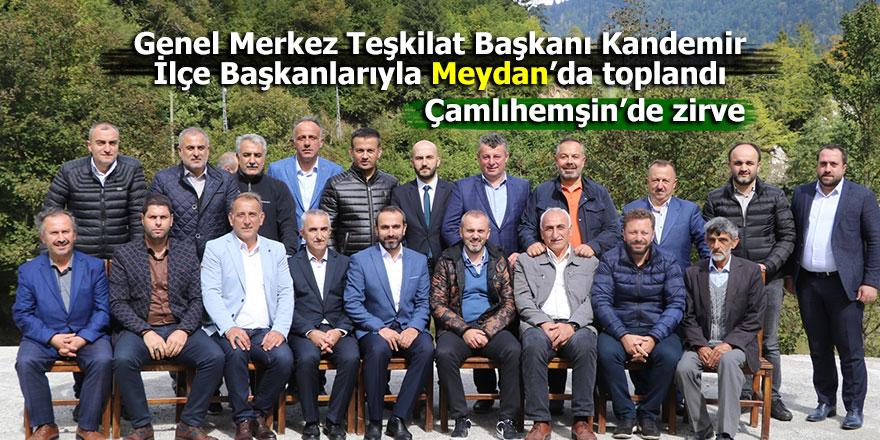 Çamlıhemşin Meydan Köyünde AK Parti zirvesi!