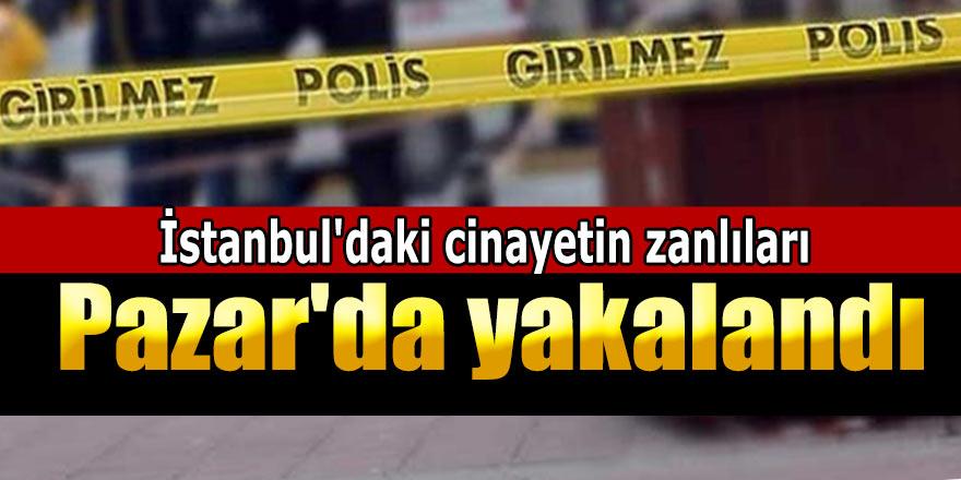 İstanbul'daki cinayetin zanlıları Rize Pazar'da yakalandı