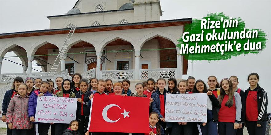 Rize'nin Gazi okulundan Mehmetçik'e dua ve selam var