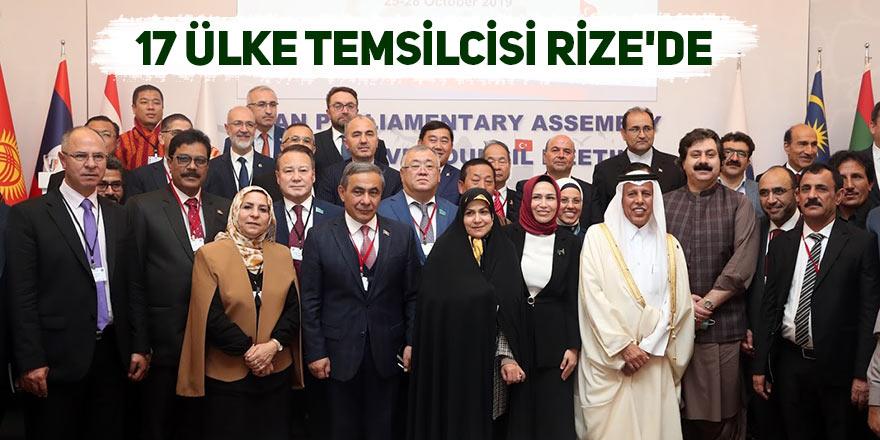 17 ülke temsilcisi Rize'de