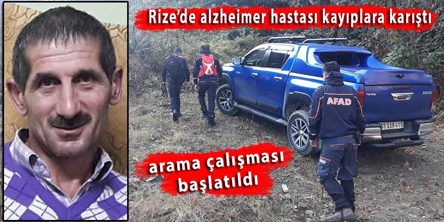 Rize'de alzheimer hastası kayıplara karıştı